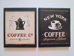 Coffee Wall Decor Signs Country Kitchen pictures New York black beige Dark Roast $21.94