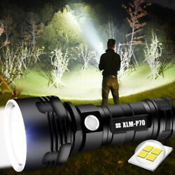 Super bright Flashlight 20000LM USB Rechargeable Shadowhawk Tactical Torch 18650 $17.99