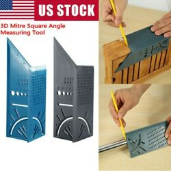 3D Mitre Square Angle Measuring Woodworking Tool with Gauge and 45°90° Rulers
