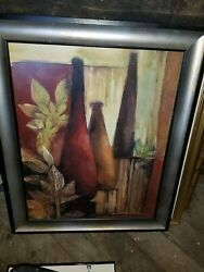 EXOTIC ELEMENTS I by SANDY CLARK - STILL LIFE VASE - CHOICES of CANVAS