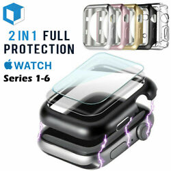 For Apple Watch Series 4321 Bumper Case 40MM 44MM Full Cover Screen Protector