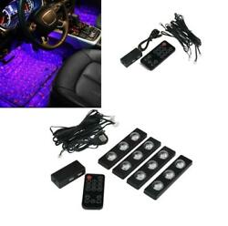 7 Color Atmosphere Lamp Car Floor LED Star Light Projector Music Sound Control $26.89