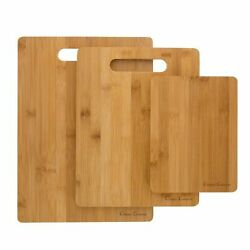 3 Bamboo Cutting Boards Antibacterial Chopping Carving Wooden Serving Board $14.99