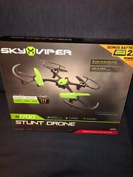 SKY VIPER S1700 STUNT DRONE WITH BONUS BATTERY PACK 2.4GHz NEW IN UNOPENED BOX $44.99