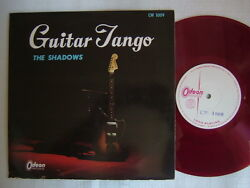 TEST PRESS RED VINYL  THE SHADOWS GUITAR TANGO  10INCH