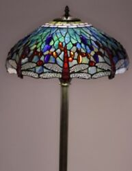 Antique Tiffany style Dragonfly Lamp Tiffany Lamps Floor Lighting Glass Metal $236.95