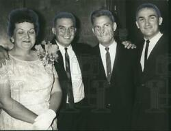 1963 Press Photo Vaughan Family Celebrating Tommy Vaughan's Special Day
