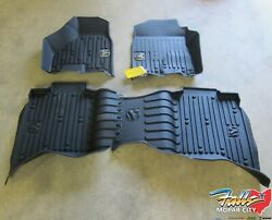 2013 2019 Ram 1500 2500 3500 4500 5500 Crew Cab Black All Weather Floor Mats OEM $149.95