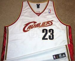 VTG AUTHENTIC 2004 LeBRON JAMES CLEVELAND CAVS CAVALIERS ADIDAS JERSEY 56 SEWN!