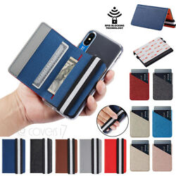 Universal Adhesive Credit Card Pocket Sticker Pouch Holder Case For Cell Phone
