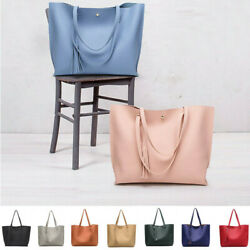 Women Synthetic Leather Handbag Ladies Shoulder Bag Purse Messenger Tote Satchel $11.99