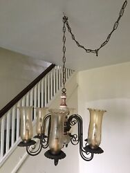Vintage Chandelier FRENCH COUNTRY Chandelier Lighting $65.00