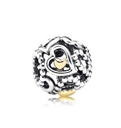 Authentic Pandora (791372) Sterling Silver Openwork Love Heart Charm