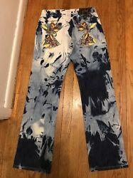Rare Limited INKSLINGERS DENIM JEAN PANTS MENS SIZE 32x34 Tye Dyed