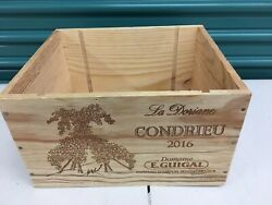 Wine Box Case Wooden Crate Holds 6750ml Domaine Guigal Cote Rotie Condrieu