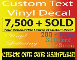 Custom Vinyl Lettering Personalized for Decal Sticker Window Wall and Names $3.10