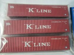 Atlas # 50004163 K-Line 40' Standard-Height Container Set # 2 3Pack N-Scale