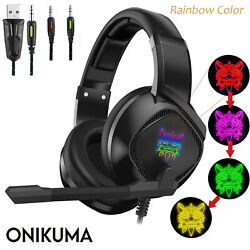 ONIKUMA K19 Led Stereo Bass Surround Gaming Headset for PS4 pro New Xbox One PC
