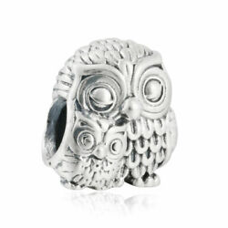 Authentic Pandora Charm Charming Owls Silver Bead Charm 791966 New