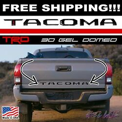 TOYOTA TACOMA 2016 - 2019 RAISED TAILGATE LETTERS 3D DOMED VINYL TRD (BLACK)