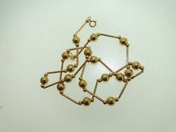 BEAUTIFUL 14KT YELLOW GOLD 17-INCH BALL CHAIN NECKLACE