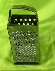 Stainless Steel 4-Sided Box Cheese Grater w Handle Commercial Kitchen Utensils