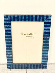 NATALINI Italian Handcrafted Wood Picture 4X6 Frame Gorgeous Blue NWOT $35.00