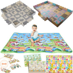 Soft Foam Floor Mat Toddler Baby Kids Interlocking Puzzle Gym Exercise Play USA