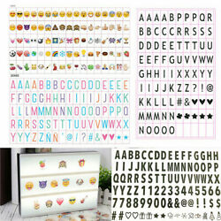 96 Letters A4 Cinematic Cinema Light Up Letter Box Sign Lightbox Wedding Party