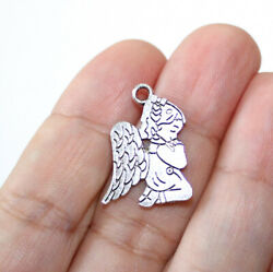 Angel Charms Antique Silver Tone Two Sided (5 charms in one lot) $4.54