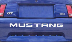System Skins 1994-98 Ford Mustang Rear Bumper Vinyl Inserts Decals Letters