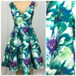 NWT She and Sky Fit and Flare Floral Dress Small