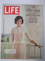 Life Magazine Jackie Kennedy She Tells Her Plans Sept 1 1961 Vol 51 No 9