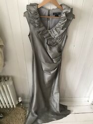 Ladies Silver Ball Evening Dress Size 10 Jessica Howard