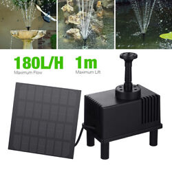Large Solar Fountain Submersible Water Pump with Sponge Filter Panel Pond Tool