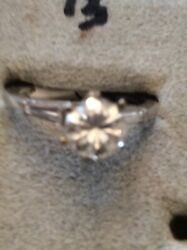 83pt Diamond Engagement Plat Mounting With Baguettes