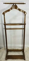 Vintage Butler Brand 973 Italy Wooden Valet Suit Dress Clothes Stand Hanger Coat