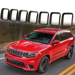 Grill Grille Trim for Jeep Grand Cherokee SRT Trackhawk 17-19 Rings Cover Kits