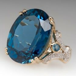 18K Gold Natural Blue Topaz Ruby Wedding Bridal Proposal Jewelry Ring Size 6-10