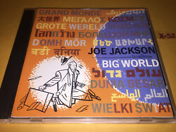 JOE JACKSON cd BIG WORLD (recorded live in studio) hits RIGHT & WRONG home town