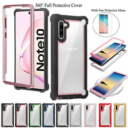360 Full Rugged Hybrid Silicone Phone Case Cover for Samsung Galaxy Note 10 Plus