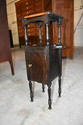 Antique Small Smoke Tobacco Stand or Humidor by H.J. Cushman Mfg Co Vermont