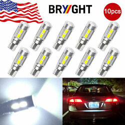 10x HID White Canbus T10 W5W 192 921 2825 10-SMD LED Backup Reverse Light Bulbs