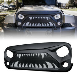 Xprite Gladiator Grille with Monster Teeth Steel Mesh for 07 18 Jeep Wrangler JK $97.49