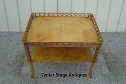 60357 Antique Birdseye Maple 2 tier Coffee Table Stand