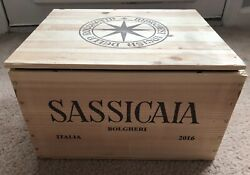 SASSICAIA 2016 Wooden Wine Crate Box Case