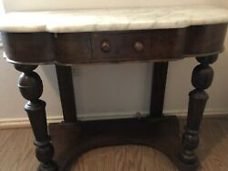 Antique Marble Top Entry Table