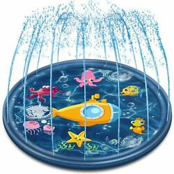68'' Outside Splash Pad Water Toys for 1 2 3 4 5 6 7 8 Year Old Boys and Girls