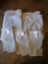5 WEST ELM LUXE FIBROSOFT GRAY SKY HAND TOWELS 2 WASHCLOTHS 3 NEW $52.16