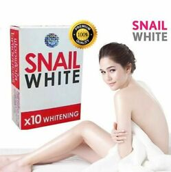 70g.*4bars SNAIL WHITE SOAP GLUTATHIONE X10 WHITENING REDUCE ACNEANTI AGING